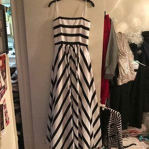 Stripe formal dress